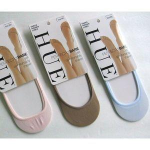 Hue Sheer Foot Sock Liners - Blue, Tan, Pink